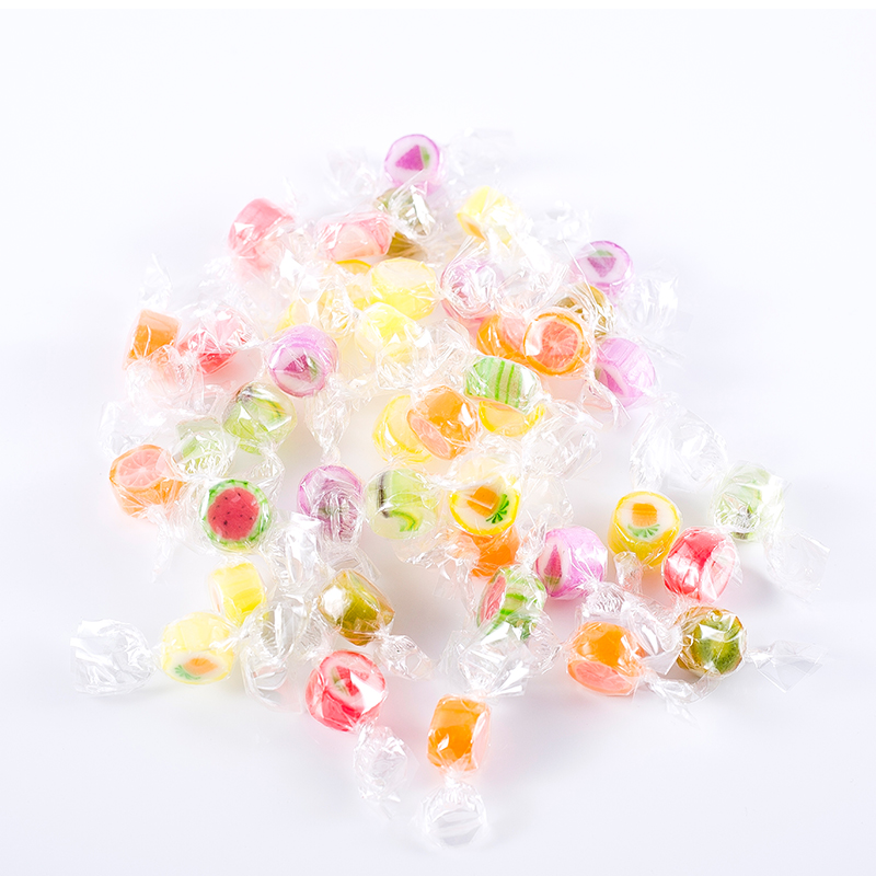 New Design Bulk Kink Packing Funny And Yummy 2G Fruit Shaped Hard Candy