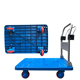 SSAC folding plastic platform hand truck trolley with hand brake