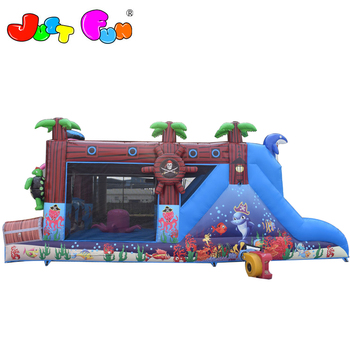 new designed sea world octopus pirate inflatable obstacle course for kids for sale