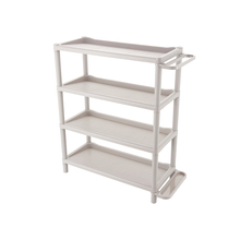 Malesia moderna portatile display shoe rack organizer