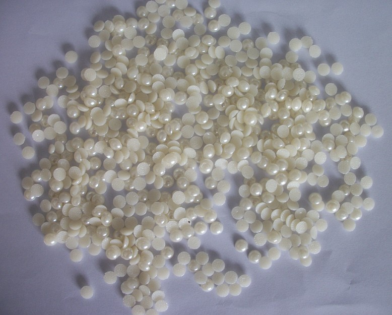 Y0827 Cheap Price 5mm 8mm 10mm matt gold Hot Fix Plastic Half Round Pearl Beads, pearl transfer,iron on pearls