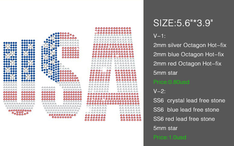 Y1001 custom hotfix OES Fashion stud transfer, China metal octagon America transfer stud, wholesale stud transfer America