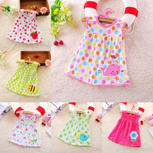 0-1 Year Old Baby <strong>Dress</strong> <strong>Girl's</strong> <strong>Dress</strong> Pure Cotton Embroidered Princess Skirt