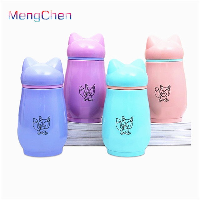 Factory Price Cartoon colorful Direct Drinking cool stainless steel Thermal Insulation water bottles bulk sale free samples <strong>001</strong>