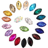 Custom Shapes Colors Navette Loose Strass Sew on Crystal Rhinestones for Clothing