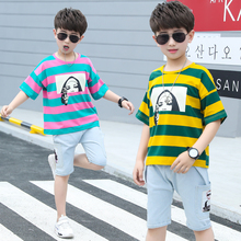Cute Little Kids Boy Clothes Two Piece <strong>Set</strong> Summer Striped T-Shirt Jeans <strong>Children</strong> Clothes Boys Clothing <strong>Sets</strong>