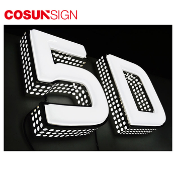 Luminous 3D Large English Alphabet Plastic Clear Acrylic Aluminum Styrofoam Letter