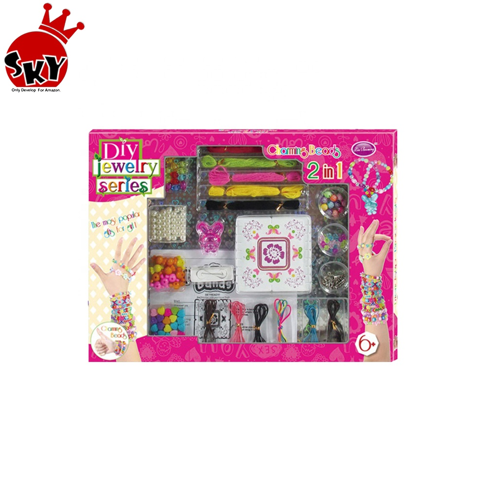Educational kids toys creative DIY jewelry kits pop bead kit diy toy amazon amazon hot <strong>w</strong>/ cpc