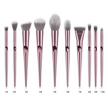 Makeup <strong>brush</strong> factory 10pcs professional rose gold handle makeup <strong>brush</strong> set with private label