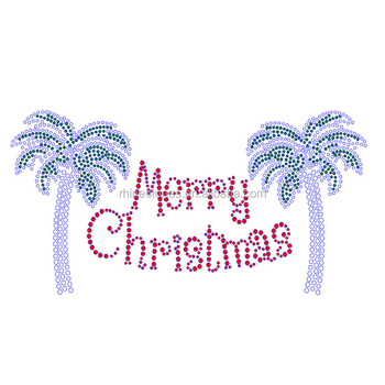 1213W China rhinestone motif factory wholesale Merry Christmas letters and numbers hot fix designs