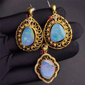gemstone pendant 18k gold diamond natural opal pendant christmas charms necklace 2019 jewelry