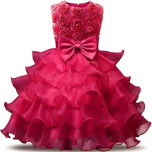 Pabasana luxury solid flower <strong>girl</strong> layered tulle birthday party <strong>dress</strong> for 2019 with high quality