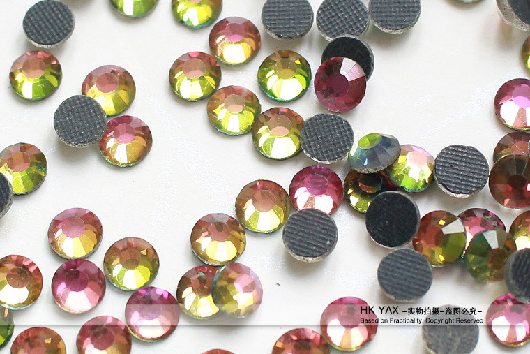 Y1029 Crystal High Quality Multicolor round dmc flatback glass loose crystal stone for motif design ss10 3mm 500 gross