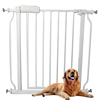 Auto Close Safety Baby Gate Extra Tall Walk Through Pet Gate with Small Pet Door