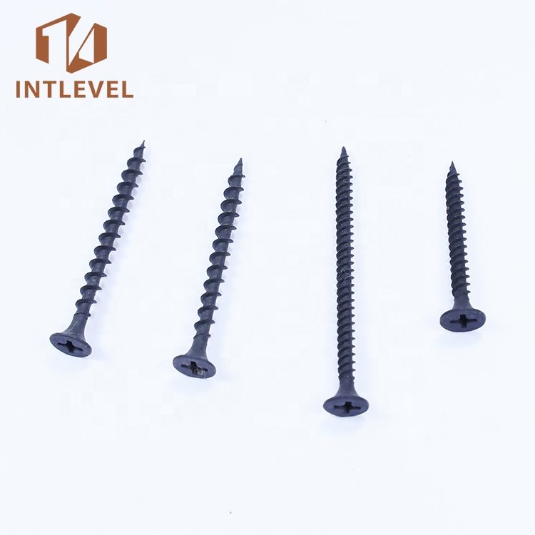 Q195 Medium carbon steel fasteners <strong>Black</strong> phosphate Coarse Thread <strong>drywall</strong> <strong>screw</strong>