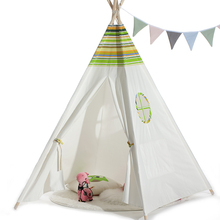 Light green roof color stripe four-bar Indian children's <strong>tent</strong>