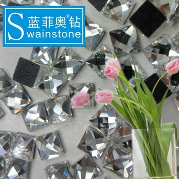 Y0818 Factory price crystal ab square DMC stone, DMC stone transfer 4*4MM 5*5MM 7*7MM CRYSTAL ab iron-on DMC rhinestones