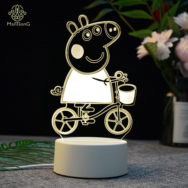 Hot Sale 3D LED Night <strong>Light</strong> USB Power Battery 3D Illusion Night <strong>Light</strong> For Kids Gift
