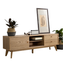 TV stand ash veneer living room set <strong>furniture</strong>