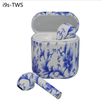 Amazon painted i9s TWS Blue tooth headset V5.0 stereo charging bin magnetic binaural wireless headphone sports mini earphone