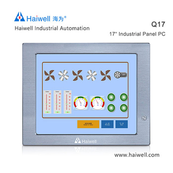 Haiwell 17 inch Q17 fanless industrial panel pc all in one touch screen computer China brand
