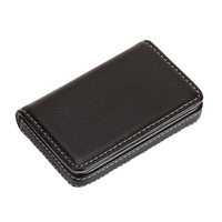 Beautiful PU leather business metal name card holder Custom personalized card case with magnetic