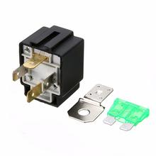 New 12V 30A Car 4-Pin Normally Open Contacts Fused Relay On/Off With Bracket