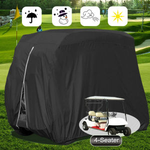 2/4 S M L Passenger Waterproof Dustproof Golf Cart Cover FOR Fits EZ GO Club Car and Yamaha Golf Carts Black