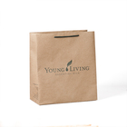 Recycled brown kraft paper bag with your own logo for shopping