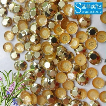 S0804 China 2mm Gold hot fix rhinestud crystal beads clothing, silver octagon rhinestud transfer, iron on rhinestud design