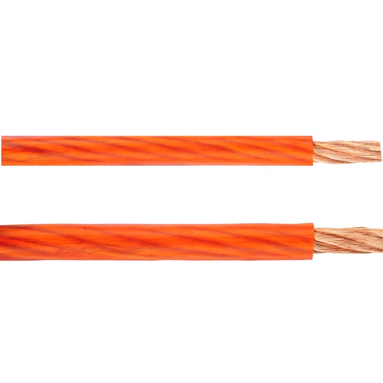 Huxi-cable Solid/Frost/Clear Jacket Tinned <strong>Copper</strong>/OFC/CCA Conductor 1/0 best car audio power ground cable wire