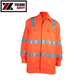 Wholesale Best-Selling High Vis Fluorescent Jacket With Reflective Tape