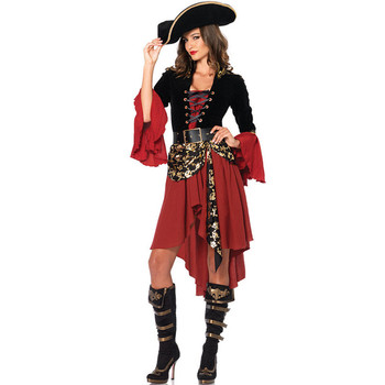 PoeticExst Wholesale Fashion Halloween Beach Party Costumes Plus Size Sexy Adults Pirate Costume For Lady