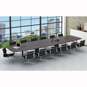 Big boardroom modern industrial design oval-shape 10 person fancy office conference table
