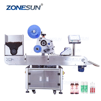 ZONESUN XL-T823 Automatic Round Medicine Bottle Pen Vial Smoke Oil Cigarette Bottle Adhesive Sticker Packing Labeling Machine