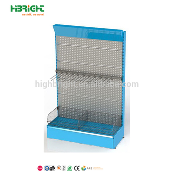 strong metal pegboard hardware tool display stand