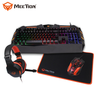 MEETION C500 keyboard and mouse set, gaming keyboard mouse headset, mouse keyboard headset