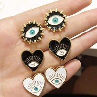 CM-XY15623 Wholesale Beautiful eye earrings ,fashion charm earring , heart earring