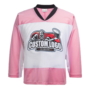 Rosa sublimation hockey anzug ice hockey jersey