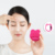 USB rechargeable sonic facial cleansing brush silicone with mirror