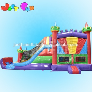 Top quality outdoor used commercial inflatable bouncers with slide for sale