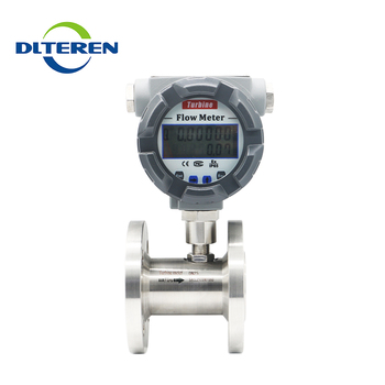 Dalian Teren Intelligent Digital Turbine Flow Meter for Gasoline Methane Gas Air Turbine Flowmeter