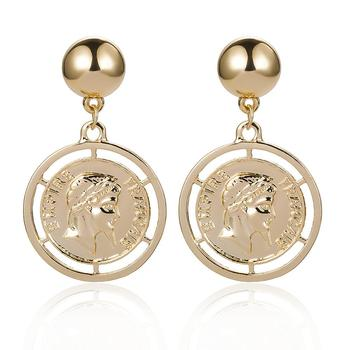 Fashion Gold Coin Earrings for women wholesale N94174