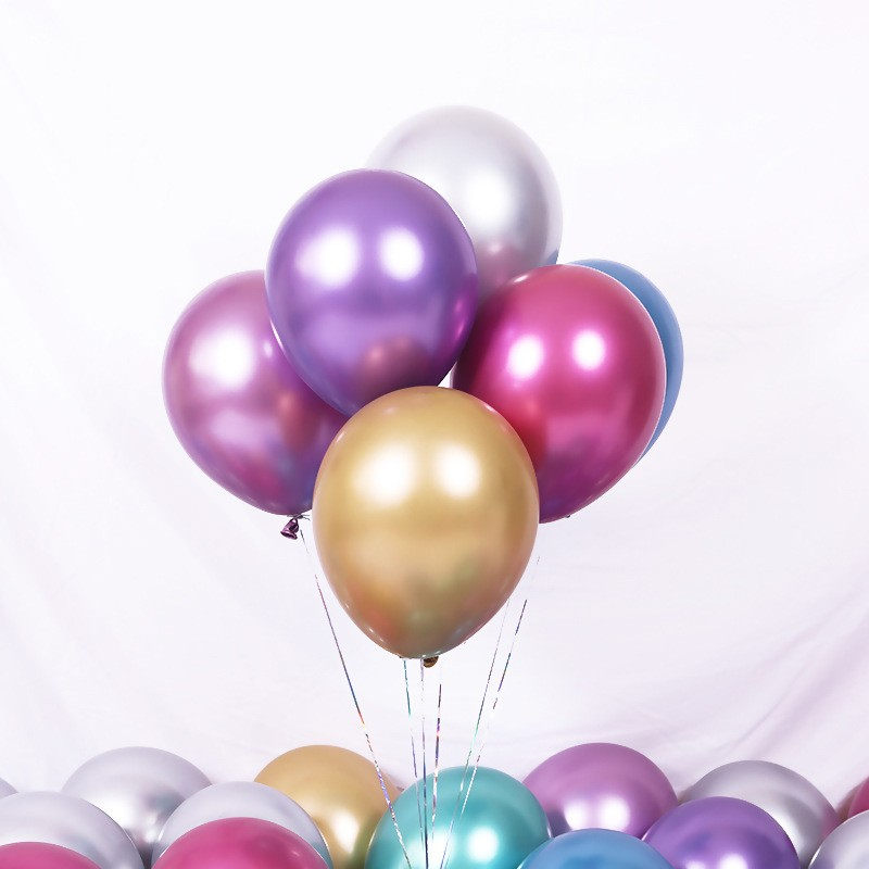 Tryme 12inch Metallic Glossy Latex Balloons Foil Helium Inflatable Air Balloons for Wedding Birthday Party Decoration Baby <strong>Showe</strong>