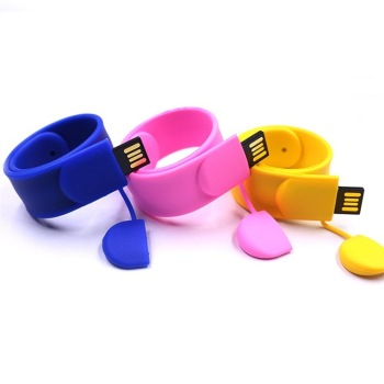 Silicon Usb Slap Bracelet Usb Drive, Custom Color 32gb 16gb 8gb 4gb 2gb 1gb Usb  Flash Drive Bracelet With Free Logo Design
