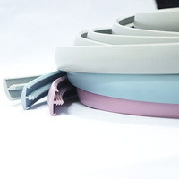 High Quality Eco-friendly China factory Plastic Extrusion Profile PVC plastic t edge banding trim strip for desk