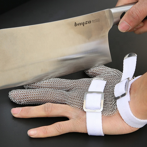 Anti-cut level 5 stainless steel chainmail butcher safety working <strong>gloves</strong>