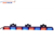 Amber blue red led lighting strobe dual color stick direction traffic light bar