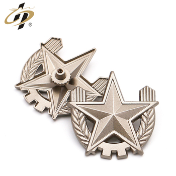 Top quality  military award pins pair custom die casting silver lapel pins