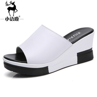 AZ-807Summer women sandals new arrival %100 good quality cow split leather sewing fashion heel high sandal